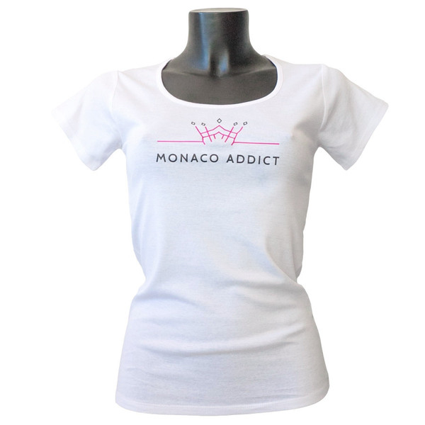 Woman_T-Shirt_Monaco_Addict_White_Front_grande