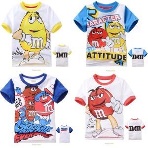 1pcs-For-2-7Yrs-Baby-Boys-Cartoons-Chocolate-Short-Sleeve-T-Shirts-Girls-Cotton-M-M