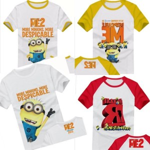 Free-shipping-2pcs-lot-2013-New-Despicable-ME-minion-Children-short-sleeved-T-shirt-2013-summer